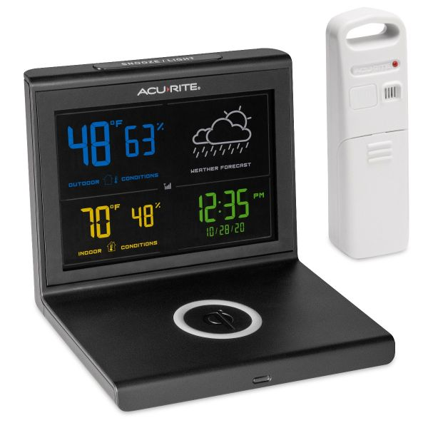 weather forecaster with wireless charger straight image