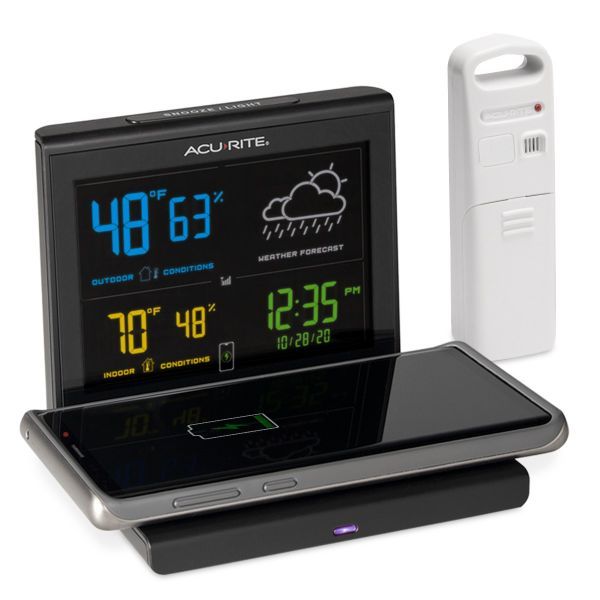 weather forecaster with wireless charger main image