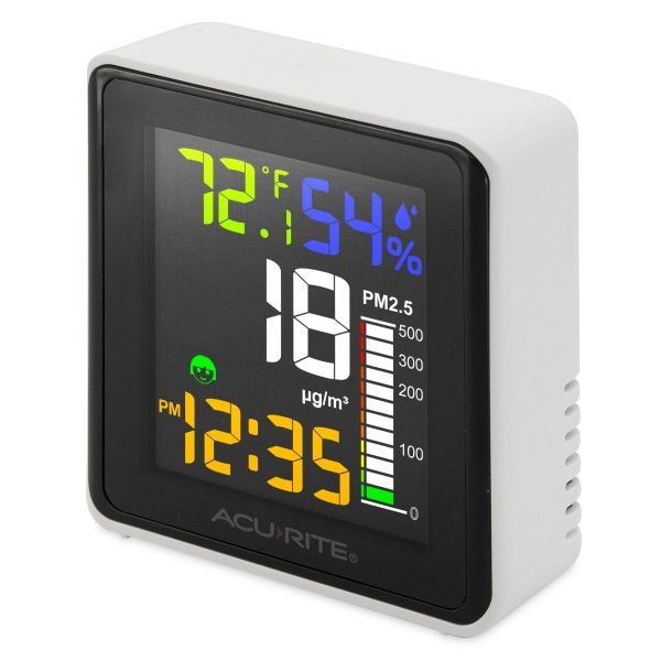indoor air quality monitor - angled view
