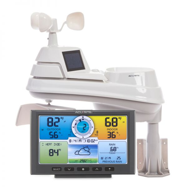 Close-Up of Pro+ 5-in-1 Weather Station with Digital Color Display – AcuRite Personal Weather Stations
