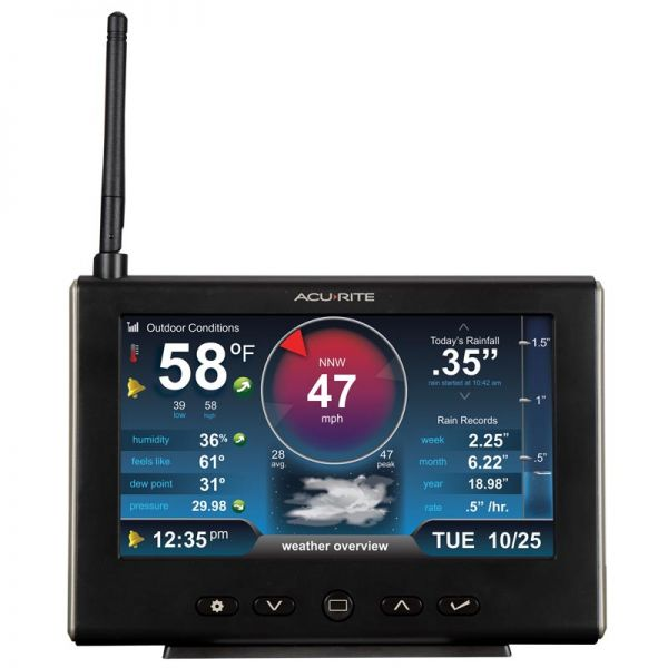 Front View of 5-in-1 Weather Station HD Display – AcuRite Weather Instruments