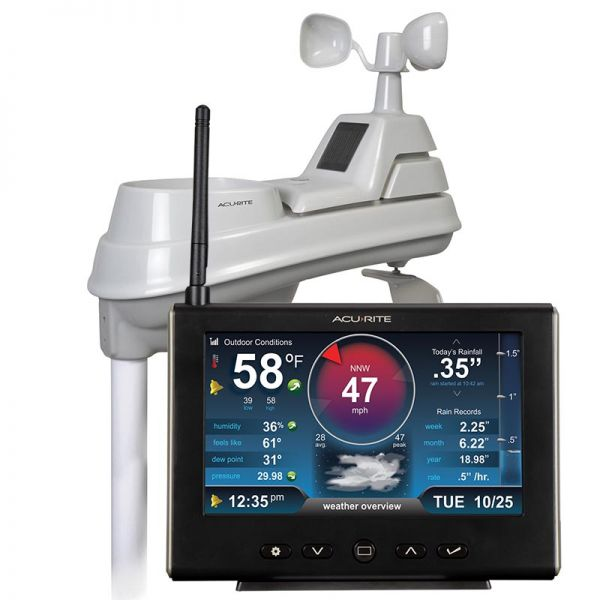 Close-Up of 5-in-1 Weather Station with HD Display – AcuRite Personal Weather Stations