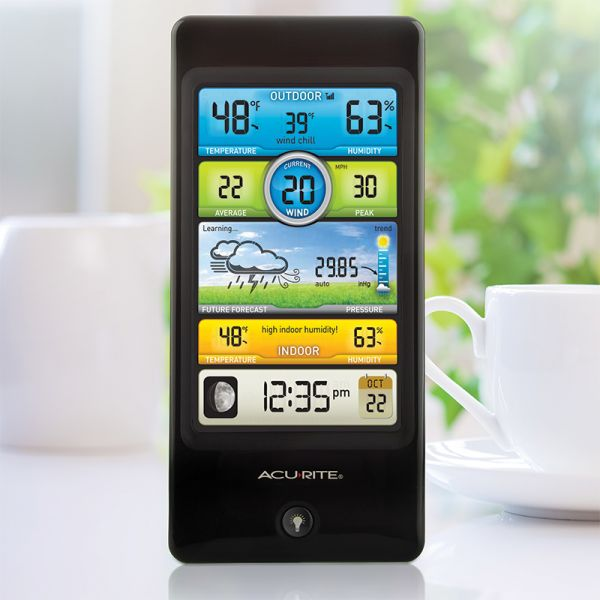Pro Color Weather Station display on a table - AcuRite Weather Monitoring Devices