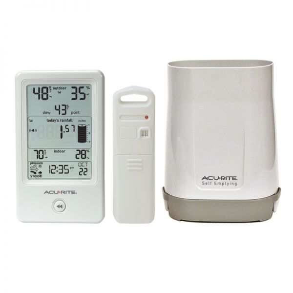 3 Components of the Rain Gauge with Indoor/Outdoor Temperature Setup – AcuRite Weather Devices