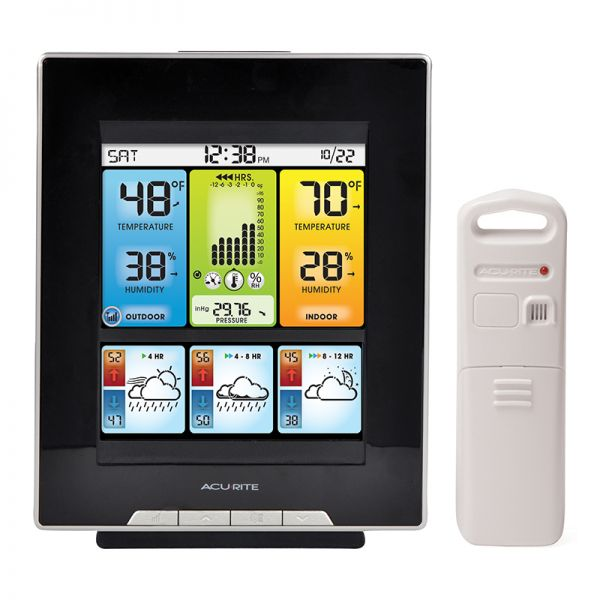 Color Weather Station with Morning, Noon & Night Forecast - Acurite Weather Monitoring Devices