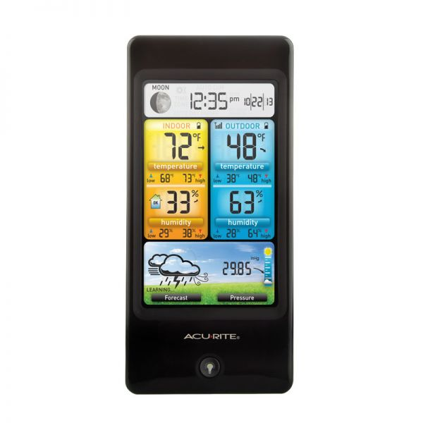 Front View of Basic Color Weather Station Display – AcuRite Weather Monitoring Devices