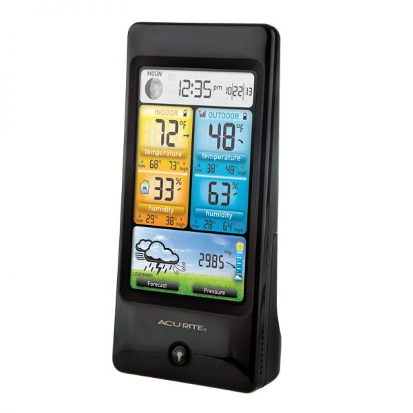 Angled View of Basic Color Weather Station Display – AcuRite Weather Monitoring Devices