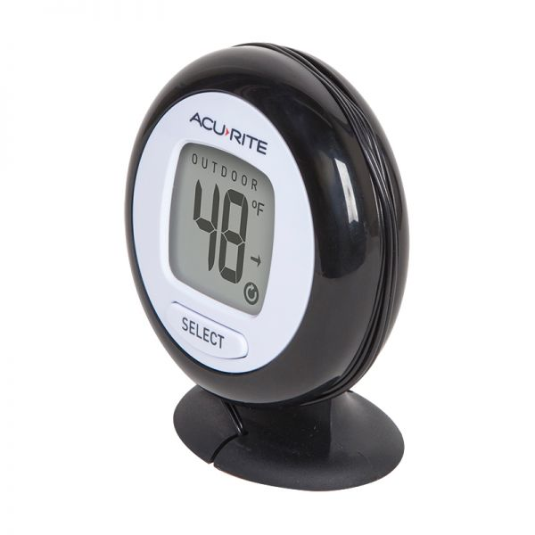 Angled view of the Digital Thermometer with 10-foot Temperature Sensor Probe and Humidity - AcuRite Weather Monitoring Devices