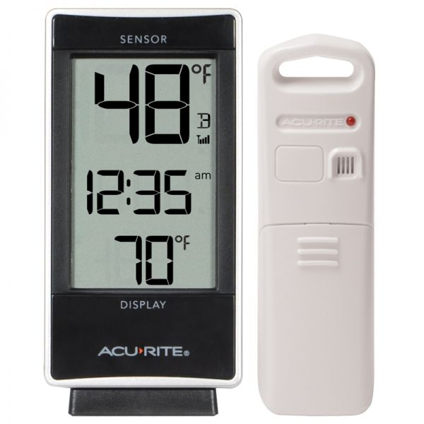 Digital Thermometer with Indoor / Outdoor Temperature - AcuRite Weather Monitoring Devices