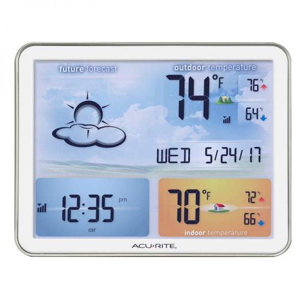Front View of Large Color Display for Weather Station– AcuRite Weather Monitoring Technology