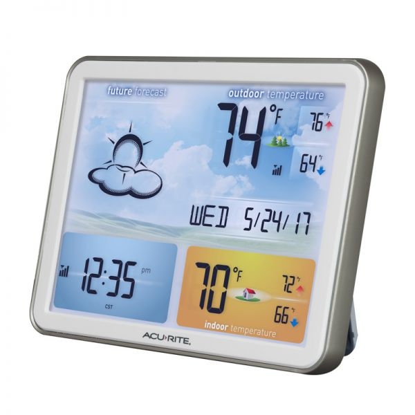 Angled View of Large Color Display for Weather Station– AcuRite Weather Monitoring Technology