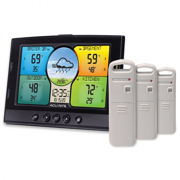 Temperature and Humidity Station with 3 Indoor/Outdoor Sensors – AcuRite Weather Devices