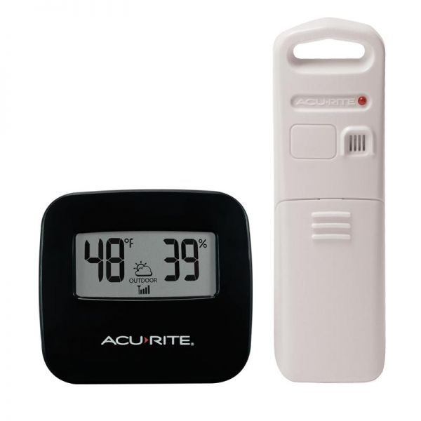 Wireless Thermometer with Outdoor Temperature and Humidity Sensor - AcuRite Weather Monitoring Devices