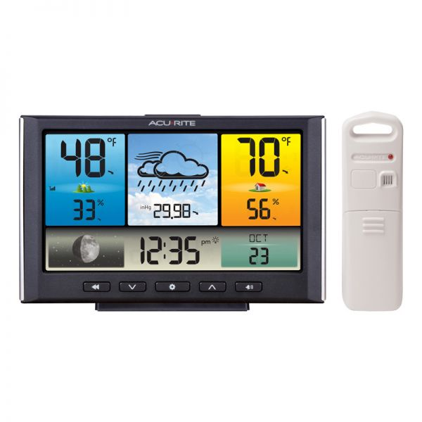 Digital Weather Station / Weather Clock with Color Display - AcuRite Weather Monitoring Devices