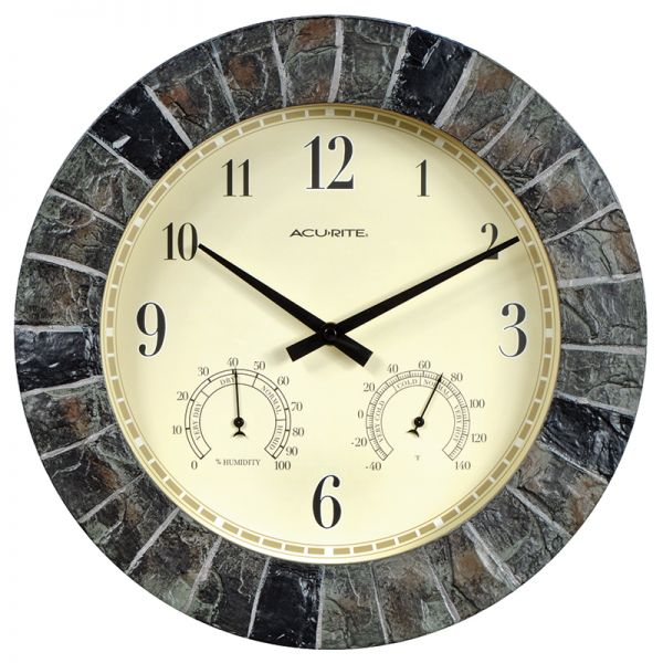 AcuRite slate clock with temperature and humidity