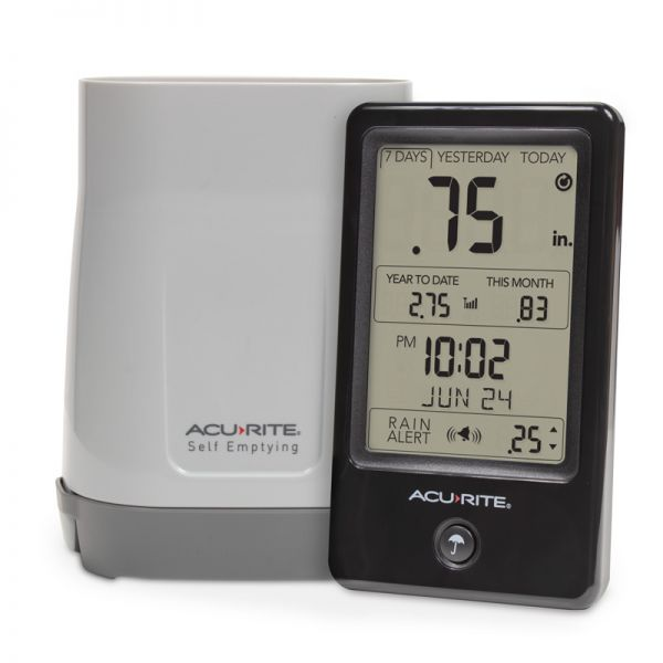 Digital Rain Gauge with Self Emptying Rain Collector - AcuRite Weather Monitoring Devices
