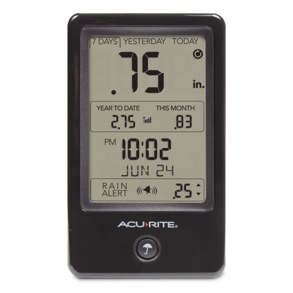 Digital Rain Gauge Display - AcuRite Weather Monitoring Devices