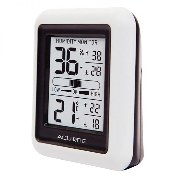 Angled view of the Indoor Temperature and Humidity Monitor - AcuRite Home Monitoring Devices