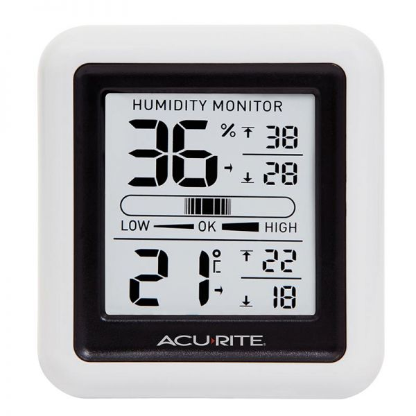 Red AcuRite 00327 Home Comfort Monitor