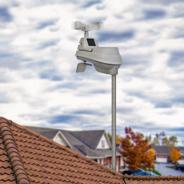 5-in-1 Weather Sensor mounted on a roof - AcuRite Weather Monitoring Devices