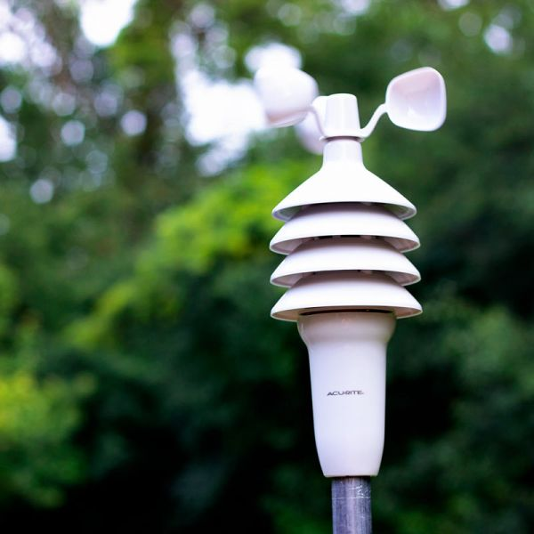 3-in-1 Weather Sensor mounted in a yard - AcuRite Weather Monitoring Devices