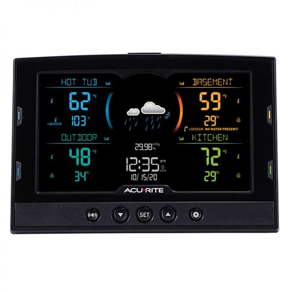 Color Multi-Sensor Display with 4-Zone Capability - AcuRite Weather Monitoring Devices