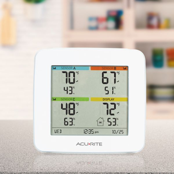 Multi-Zone Display on a table - AcuRite Home Monitoring Devices