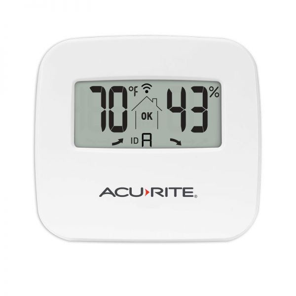 Close up of the Indoor Temperature and Humidity Monitor - AcuRite Home Monitoring Devices