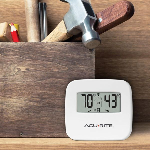 Indoor Temperature and Humidity Sensor in a garage - AcuRite Home Monitoring Devices