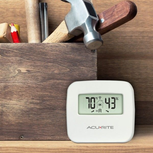 Indoor Temperature and Humidity Monitor in a garage - AcuRite Home Monitoring Devices