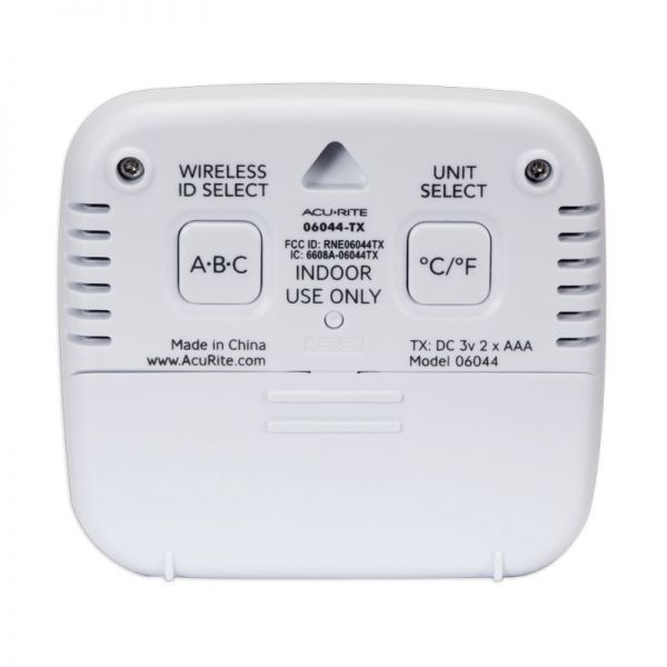 Back of the Room Temperature and Humidity Sensor - AcuRite Weather Monitoring Devices