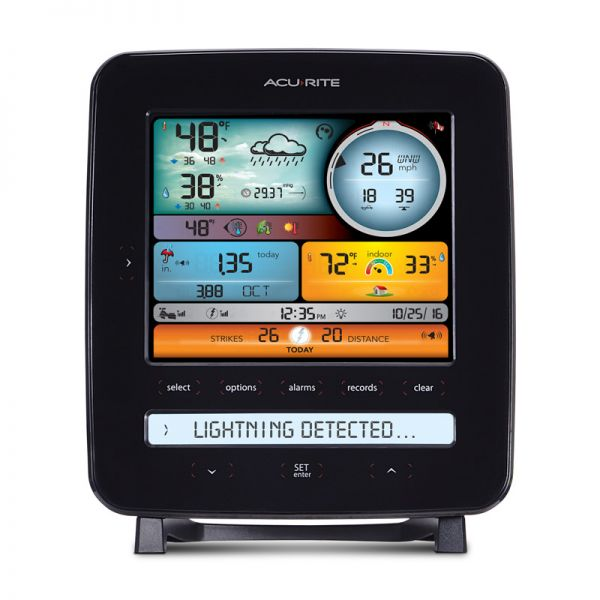 Front view of the Color Display for 5-in-1 Weather Stations with Lightning Detection - AcuRite Weather Monitoring Devices