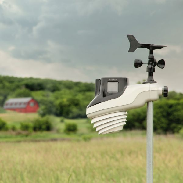 ATLAS Weather Station Sensor Positioned Outdoors – AcuRite Weather Monitoring