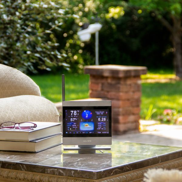 AcuRite Atlas High Definition Touchscreen Display on a Patio – AcuRite Weather Monitoring Instruments