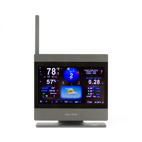 Close-Up Front View of ATLAS Weather Station Color Display – AcuRite Weather Instruments