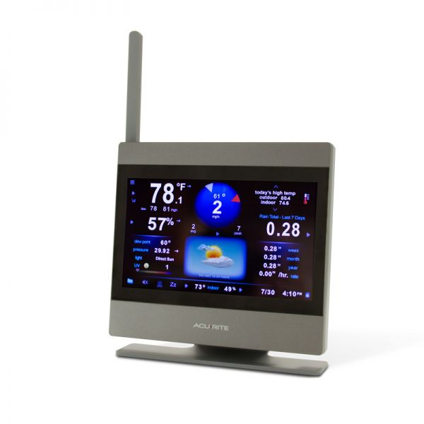 Angled View of AcuRite Atlas High Definition Touchscreen Display – AcuRite Weather Monitoring Devices