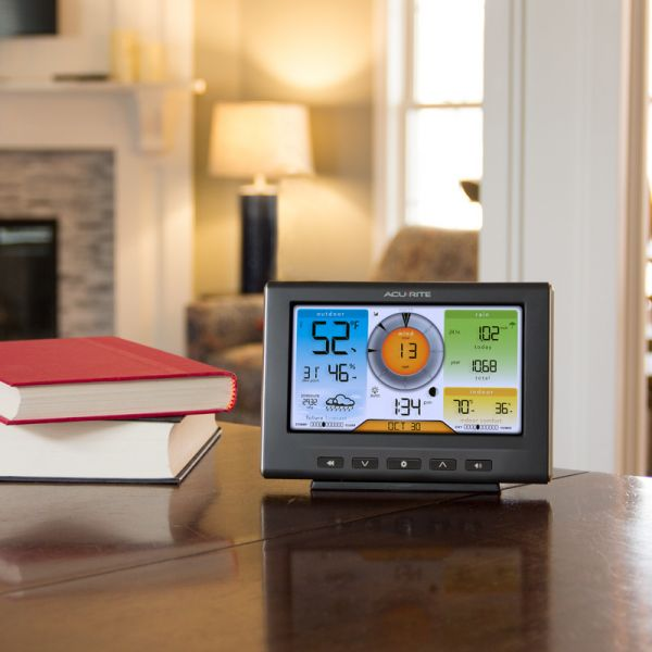 Wi-Fi Weather Station Display for 5-in-1 Sensor on a Table – AcuRite Weather Instruments