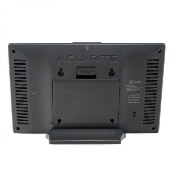 Back View of Display for PRO+ 5-in-1 Weather Station with Wi-Fi Connection to Weather Underground – AcuRite Weather