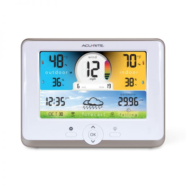 Close up of the 3-in-1 Weather Station Display - AcuRite Weather Monitoring Devices