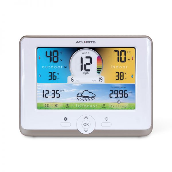 Wi-Fi Weather Station Display for 3-in-1 Sensor - AcuRite Weather Monitoring Devices