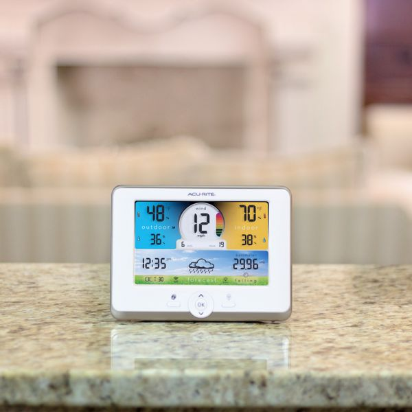 Wi-Fi Weather Station Display for 3-in-1 Sensor on a counter - AcuRite Weather Monitoring Devices