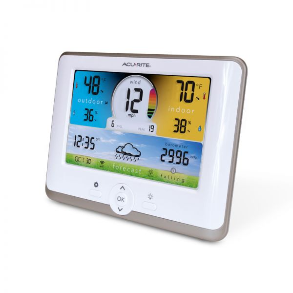 Angled view of the Wi-Fi Weather Station Display for 3-in-1 Sensor - AcuRite Weather Monitoring Devices