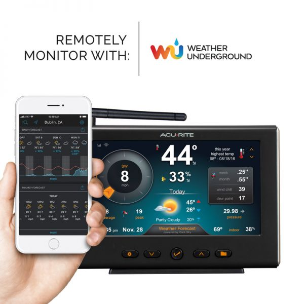 HD Display with Wi-Fi Forecast for 5-in-1 Weather Station - AcuRite Weather Monitoring Devices