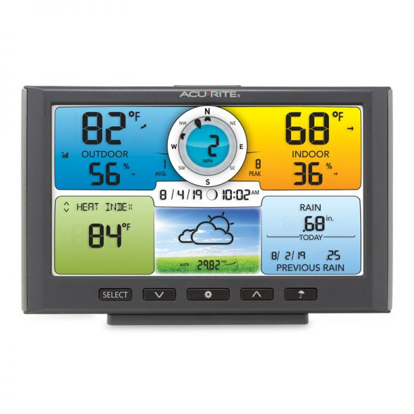 Front View of Digital Color Display for Pro+ 5-in-1 Weather Station –AcuRite Weather Instruments