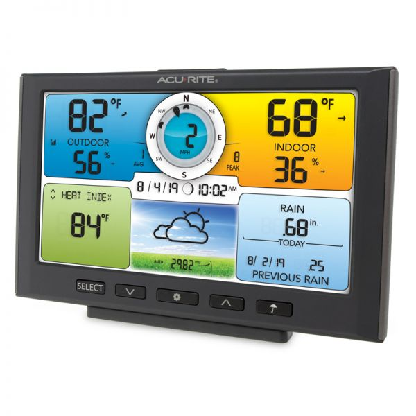 Angled View of Digital Color Display for Pro+ 5-in-1 Weather Station –AcuRite Weather Instruments