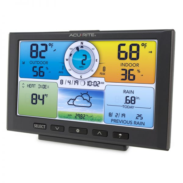 Angled View of Color Display for 5-in-1 Sensor – AcuRite Weather Monitoring Instruments
