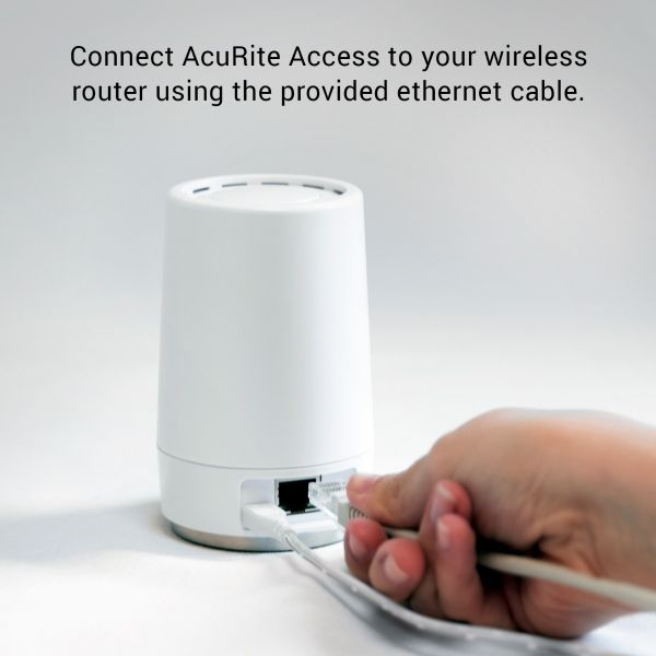 Ethernet Cable Connects AcuRite Access to Your Wireless Router – AcuRite Home Monitoring