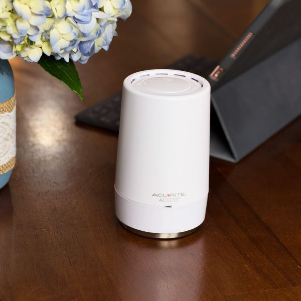 AcuRite Access for 3-Sensor Temperature and Humidity Smart Home Environment System Placed on a Desk – AcuRite Weather Devices