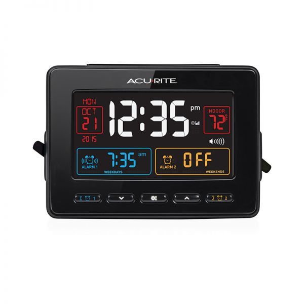 Atomic Clock with USB Charger & Dual Alarm - AcuRite Clocks