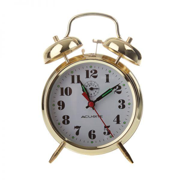 Vintage Metal Twin Bell Alarm Clock Clocks Acurite Weather